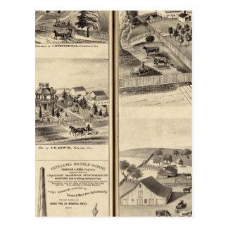 Carte Postale Résidences de la lame de harnais de dg, JM Bowles