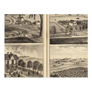 Carte Postale Résidences de WA Lewis, John Fritsch, Hugh Gaston