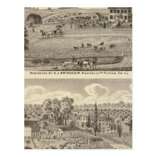 Carte Postale Résidences d'escroc de HJ et de baies d'aubépine
