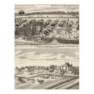Carte Postale Résidences et résidences de ferme à Putnam Co