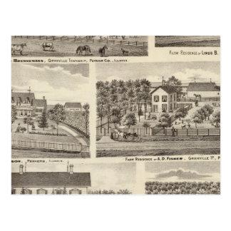 Carte Postale Résidences et résidences de ferme en CO2 de Putnam