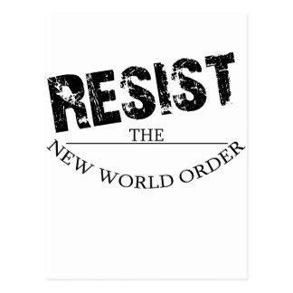 Carte Postale Résistez au nouvel ordre mondial