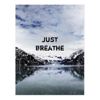 "Carte Postale ""Respirez juste.""  Citation d'Inpirational"