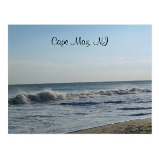 Carte Postale Ressacs, Cape May, NJ