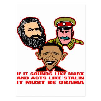 Carte Postale Ressemble à de Marx que les Lois comme Stalin