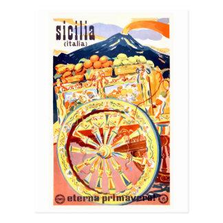 Carte Postale Ressort 1947 éternel d'affiche de voyage de la