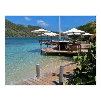 Carte Postale Restaurant de bord de mer d'île de Pinel