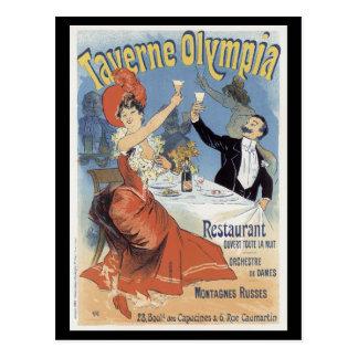 Carte Postale Restaurant de ~ d'Olympia de Taverne ouvert toute