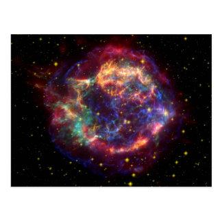 Carte Postale Reste de supernova de galaxie de Cassiopeia