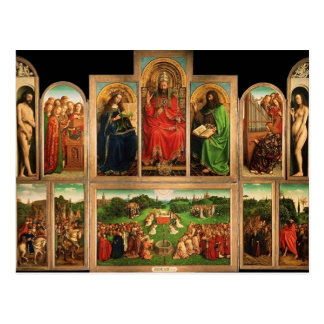Carte Postale Retable de janv. van Eyck- The Gand