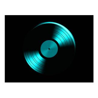 Carte Postale Rétro album de disque vinyle dans Teal