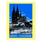 Carte Postale Rétro annonce vintage de voyage de style de Koeln