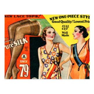 Carte Postale Rétro art vintage de catalogue de mode de kitsch