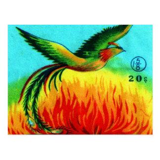 Carte Postale Rétro augmentation vintage de Phoenix de pétard de