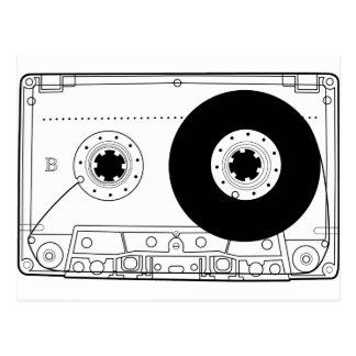 Carte Postale rétro cassette vintage graphique de T-shirt de