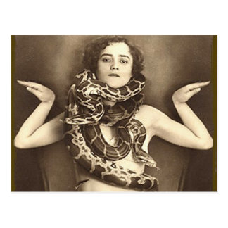 Carte Postale Rétro charmeur de serpent vintage de numéro de