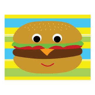 Carte Postale Rétro cheeseburger
