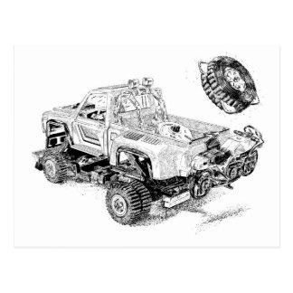 Carte Postale Rétro collecte de jouet/camion reconditionné