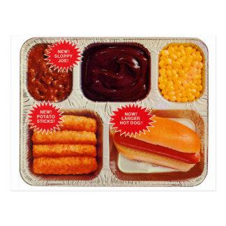 Carte Postale Rétro de kitsch de TV de dîner plus grand hot-dog