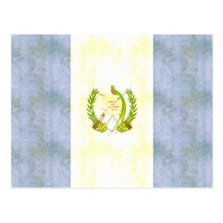 Carte Postale Rétro drapeau vintage du Guatemala