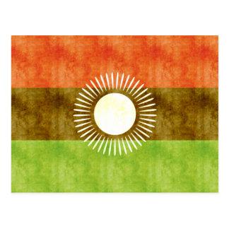 Carte Postale Rétro drapeau vintage du Malawi