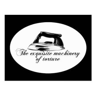 Carte Postale Rétro fer - les machines exquises de la torture