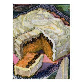 Carte Postale Rétro gâteau vintage de raisin sec d'épice de