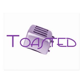 Carte Postale - Rétro grille-pain - pourpre grillé