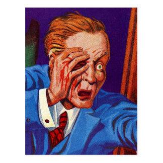 Carte Postale Rétro horreur vintage de kitsch mon oeil ! Mon
