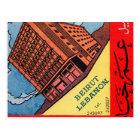 Carte Postale Rétro hôtel vintage Beyrouth d'Omar Khayyam de