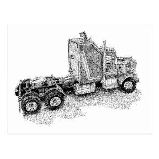 Carte Postale Rétro installation de tracteur de jouet/unité