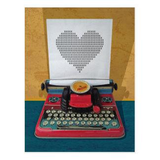 Carte Postale Rétro machine à écrire de jouet vintage d'I.T. les