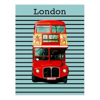 Carte Postale Rétro menthe poivrée d'autobus de Londres