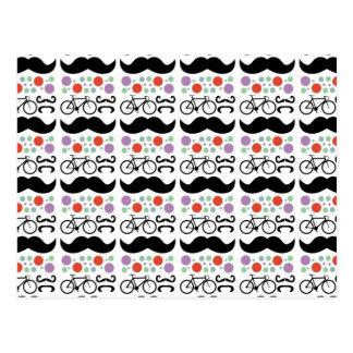 Carte Postale Rétro motif de vélo de moustache