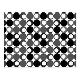 Carte Postale Rétro motif noir et blanc