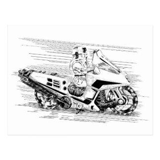Carte Postale Rétro moto/hélicoptère de jouet