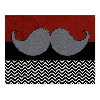 Carte Postale Rétro moustache Stache de moustache