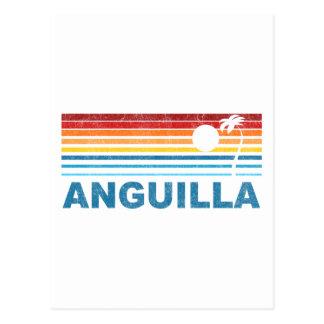 Carte Postale Rétro palmier Anguilla