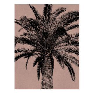 Carte Postale Rétro palmier hawaïen - modèle vintage de paumes