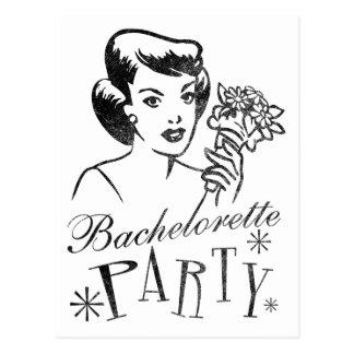 Carte Postale Rétro partie de Bachelorette