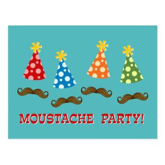 Carte Postale Rétro partie de moustache