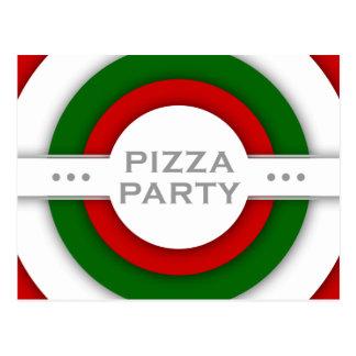 Carte Postale rétro partie de PIZZA