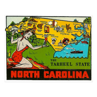 Carte Postale Rétro Pin vintage de la Caroline du Nord de