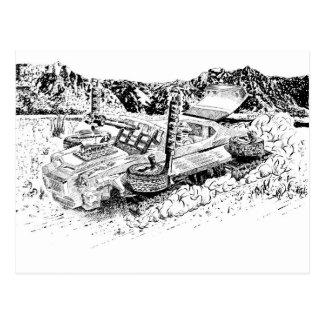 Carte Postale Rétro réservoir du jouet GTO/Armoured