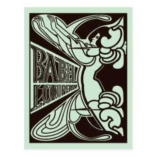 Carte Postale Rétro style de Babel janv. Toorop de nouveau d'art