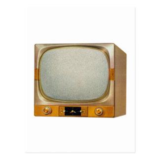 Carte Postale Rétro téléviseur vintage du kitsch TV