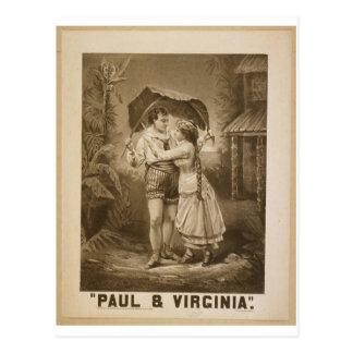 Carte Postale Rétro théâtre de Paul et de la Virginie