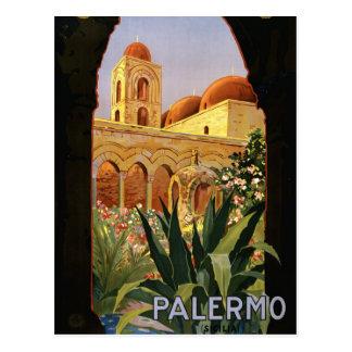 Carte Postale Rétro tourisme vintage de voyage de Palerme Italie