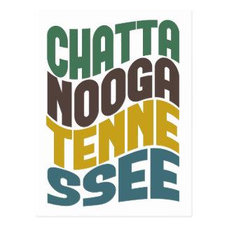 Carte Postale Rétro vague de Chattanooga Tennessee