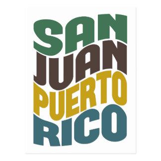 Carte Postale Rétro vague de San Juan Porto Rico